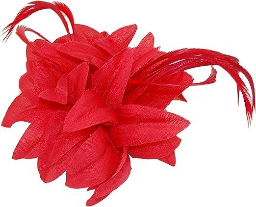 Fab Purple Flower Fascinator Hair Clip Grip Fabric 10 cms Width