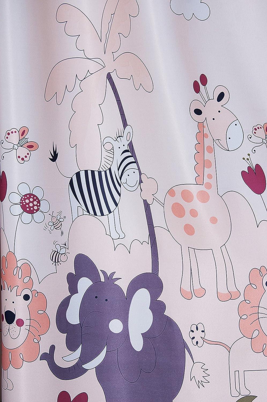 230*140, Tiere 2er-Set Tiere Vorh/änge f/ür Kinder Kinderzimmer