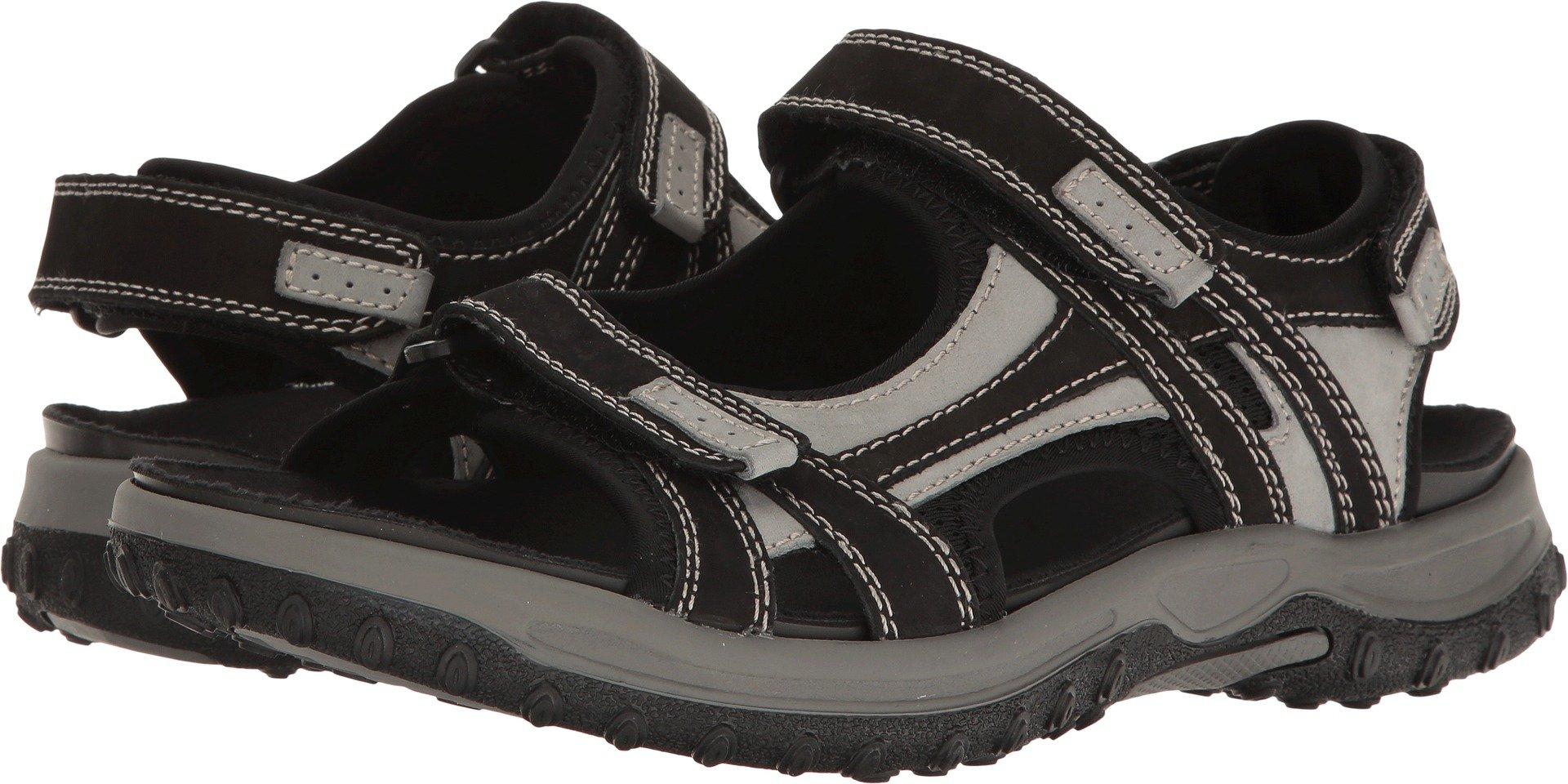 Drew Shoe Men's Warren Gray Casual Sandals 10 (4W)