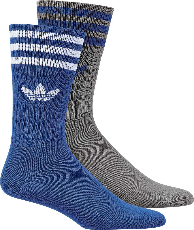 adidas Herren Solid Crew 2pp Socken, Schwarz, 39