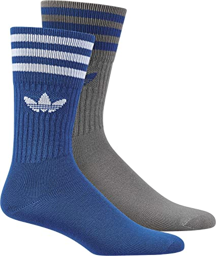 Adidas Solid Crew 2Pp Calcetines, Hombre, Azul (Azul/Grpumg), 35