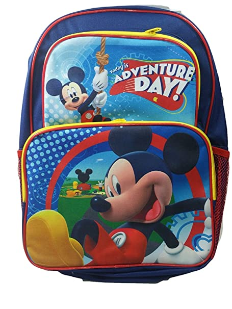 96015445881 Disney Mickey Mouse School Backpacks with Coloring Books   Free Bracelet (Small  Mickey Bag w