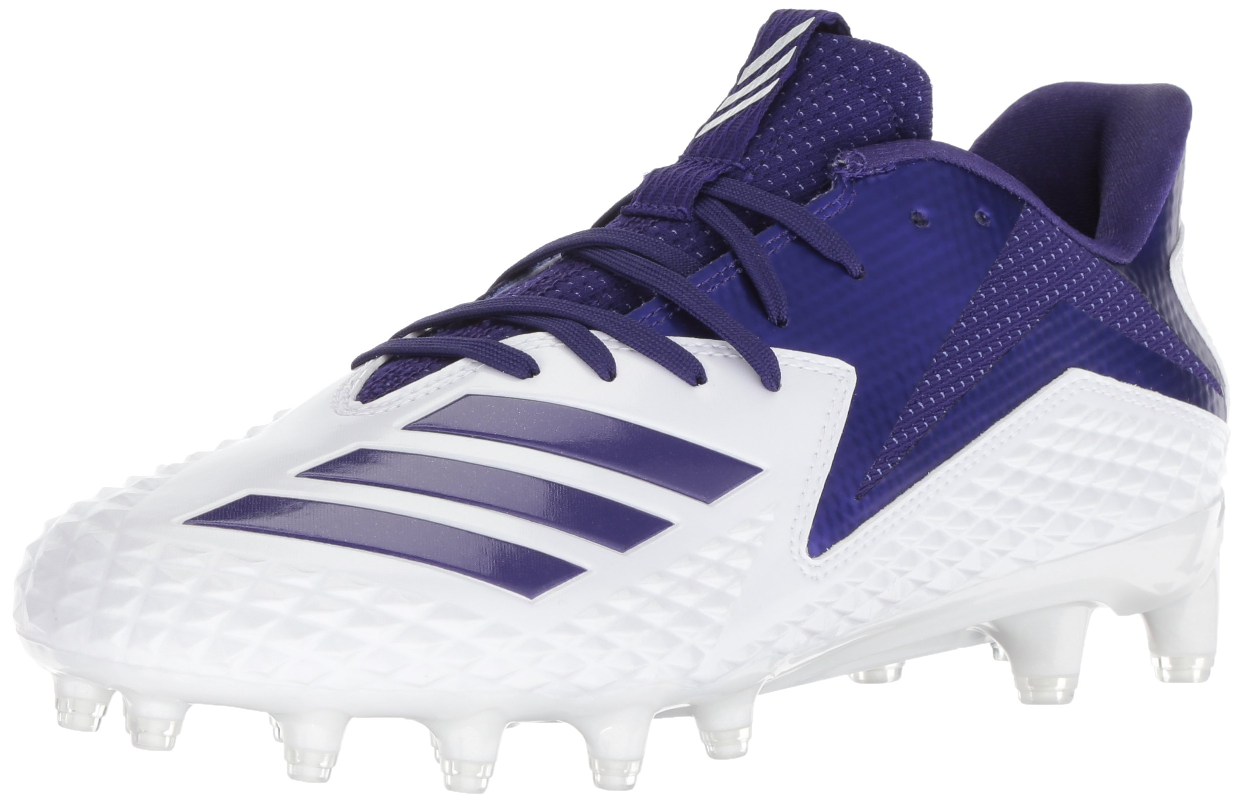 adidas Men's Freak X Carbon Mid Football Shoe, White/Collegiate Purple/Collegiate Purple, 11.5 M US