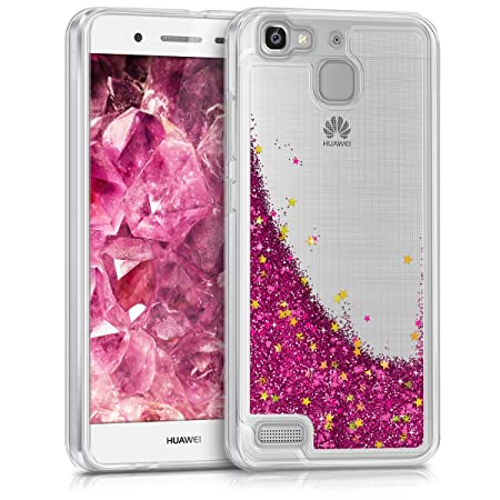 kwmobile Huawei GR3 / P8 Lite SMART Hülle - Handyhülle für Huawei GR3 / P8 Lite SMART - Handy Case in Pink Gold Transparent