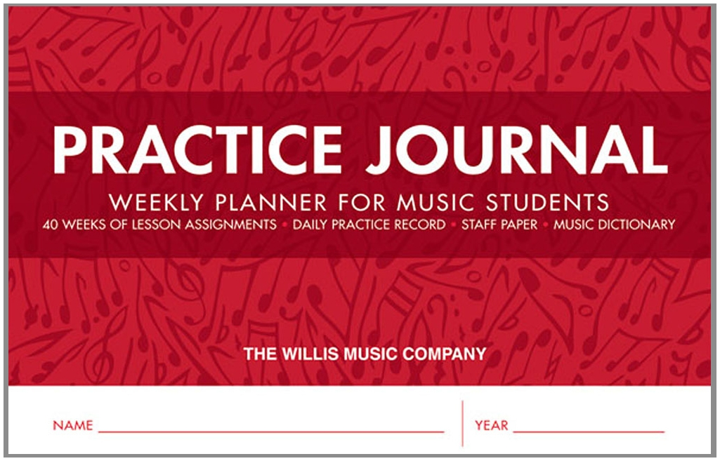 graphic relating to Printable Music Practice Log named Educate Magazine - Weekly Planner for New music Pupils