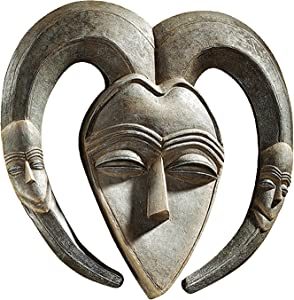 Design Toscano EU34032 African Tribal Wall Mask Kwele,Pewter