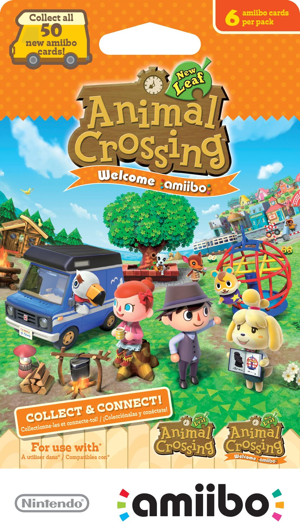 amazon com nintendo animal crossing new leaf welcome amiibo cards