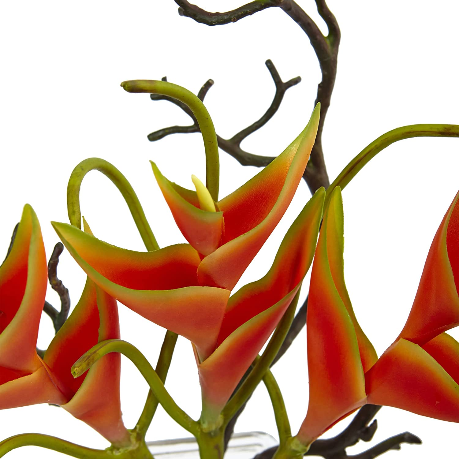 Nearly Natural 1454 Heliconia in Glass Vase