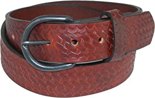 product image for Boston Leather Men's Big & Tall Oil Tanned Basketweave Leather Belt