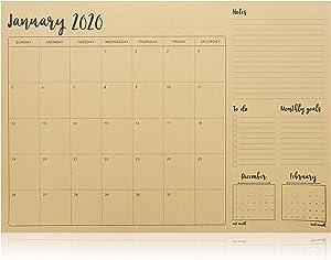 Rustic 2020-2021 Desktop Calendar - 18 Months (12 x 17 in.)
