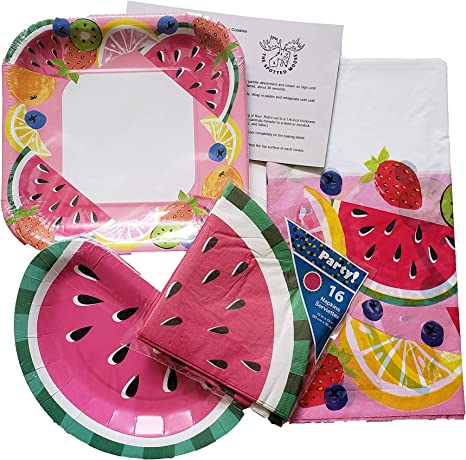 Watermelon Napkins Watermelon Party Supplies Packs 113+ Pieces for 16 Guests! Watermelon Birthday Blue Orchards Watermelon Cups Watermelon Plates