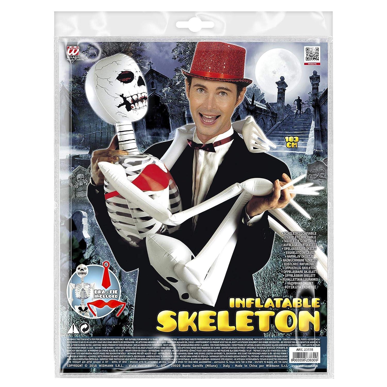 WIDMANN Inflable temático Maxi Esqueleto 183cm de Halloween ...
