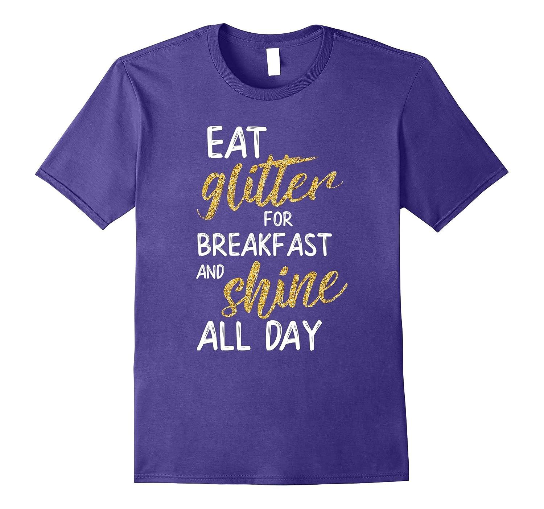 Womens Glitter Breakfast Shine Purple-Awarplus