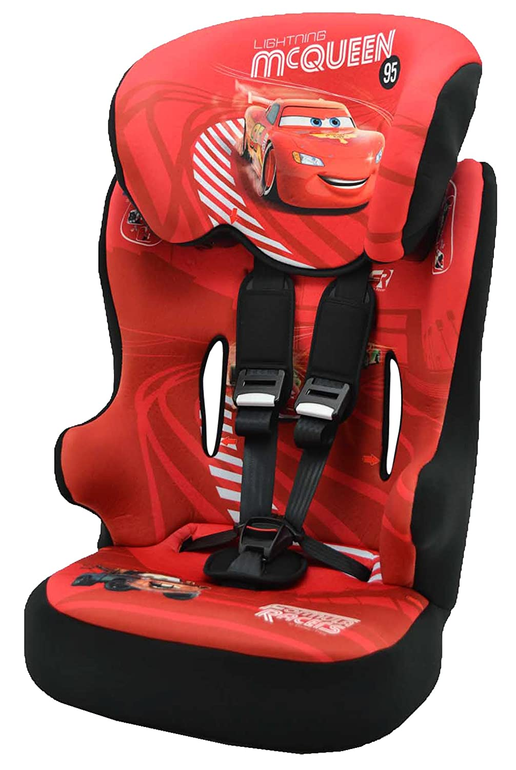 Racer Car Seat for Kids, Group 1/2/3 (9 to 36 kg), Disney Princess