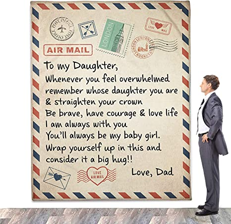 - When Life Gets Hard Sofa Quilt Dad To My Daughter Fleece Blanket