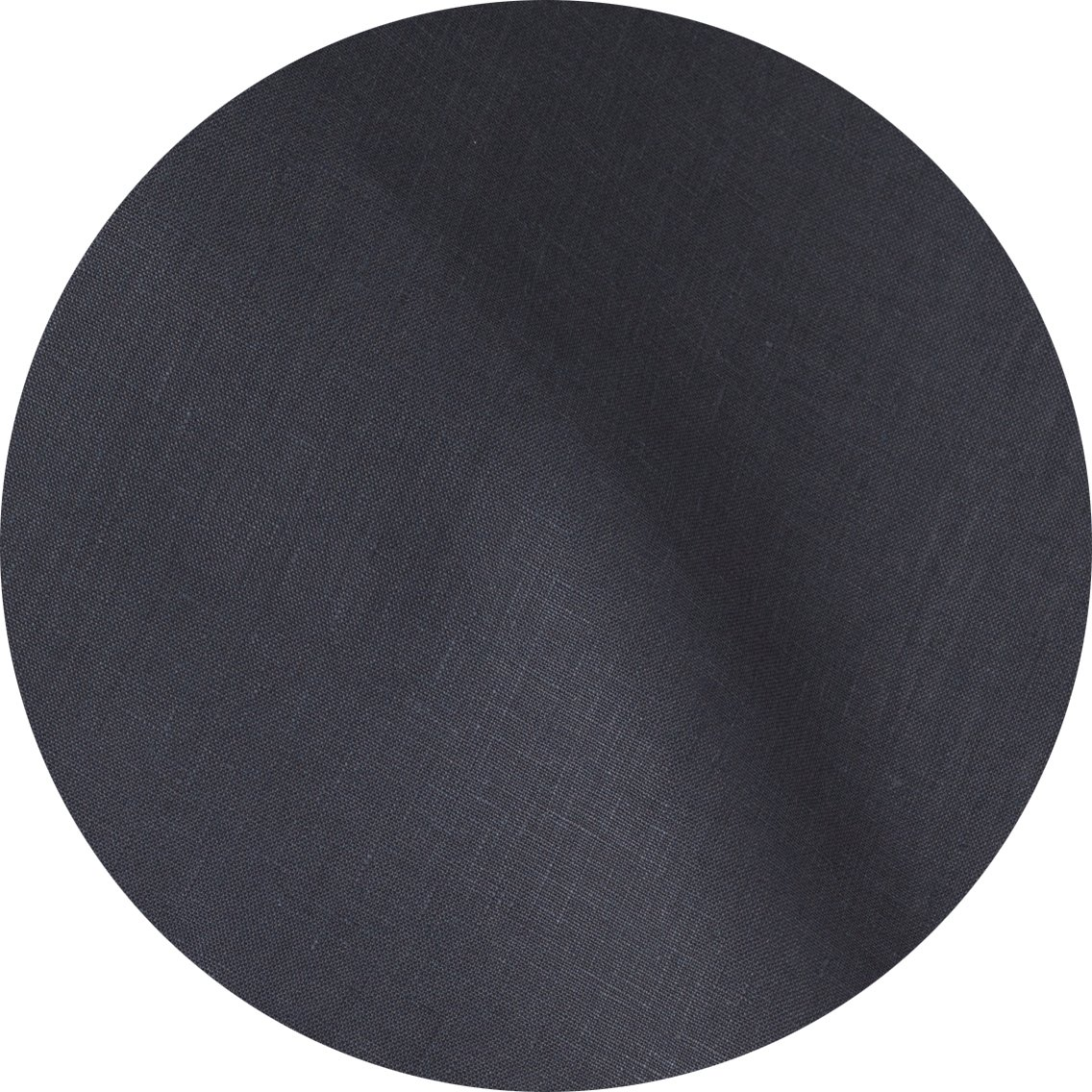 Slate Charcoal Grey Pure Linen Tablecloth, 68'' Round