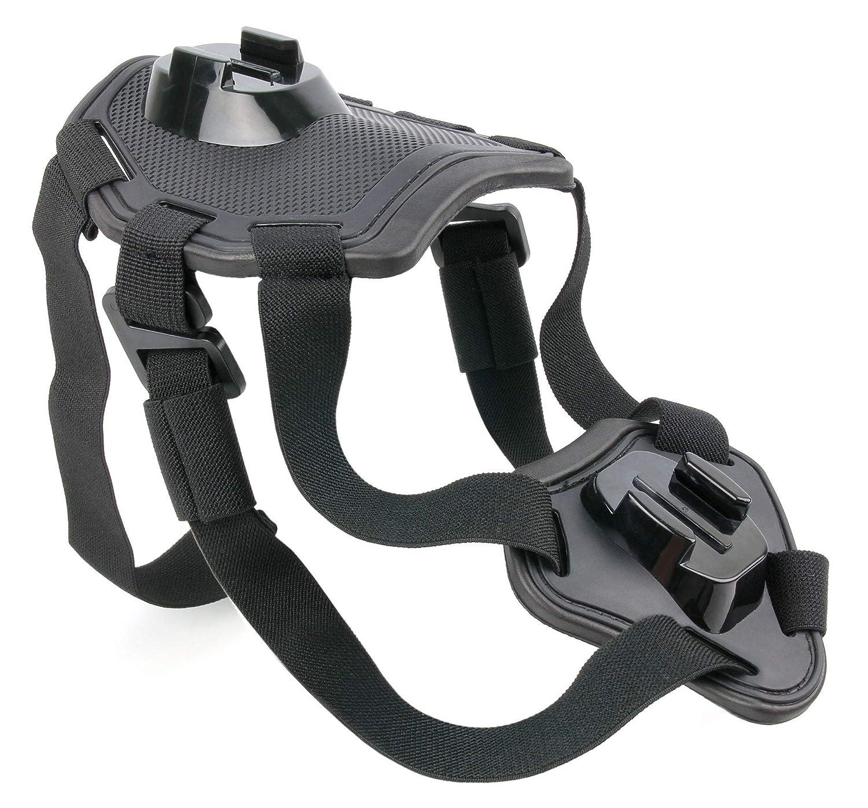 avec support rigide ajustable pour poitrail Harnais de poitrine pour chien pour SJCAM SJ4000 SJ5000X et SJ5000 SJ5000 par DURAGADGET
