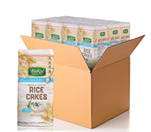 Bakol Whole Grain Brown Rice Cakes Lightly Salted, 12 Pack, Gluten-Free Healthy Snacks for Adults and Kids, Non-GMO, Kosher, and Vegan, Low-Calorie Sugar-Free Crunchy Treats, 27 Snack Cakes per Pack