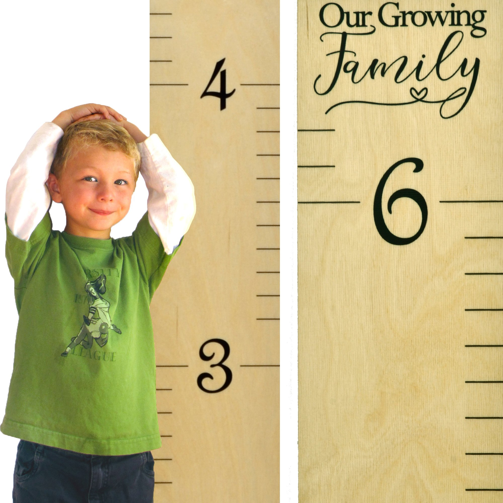 Amazon Growth Chart Art Wooden Height Chart Ruler Kids Wall