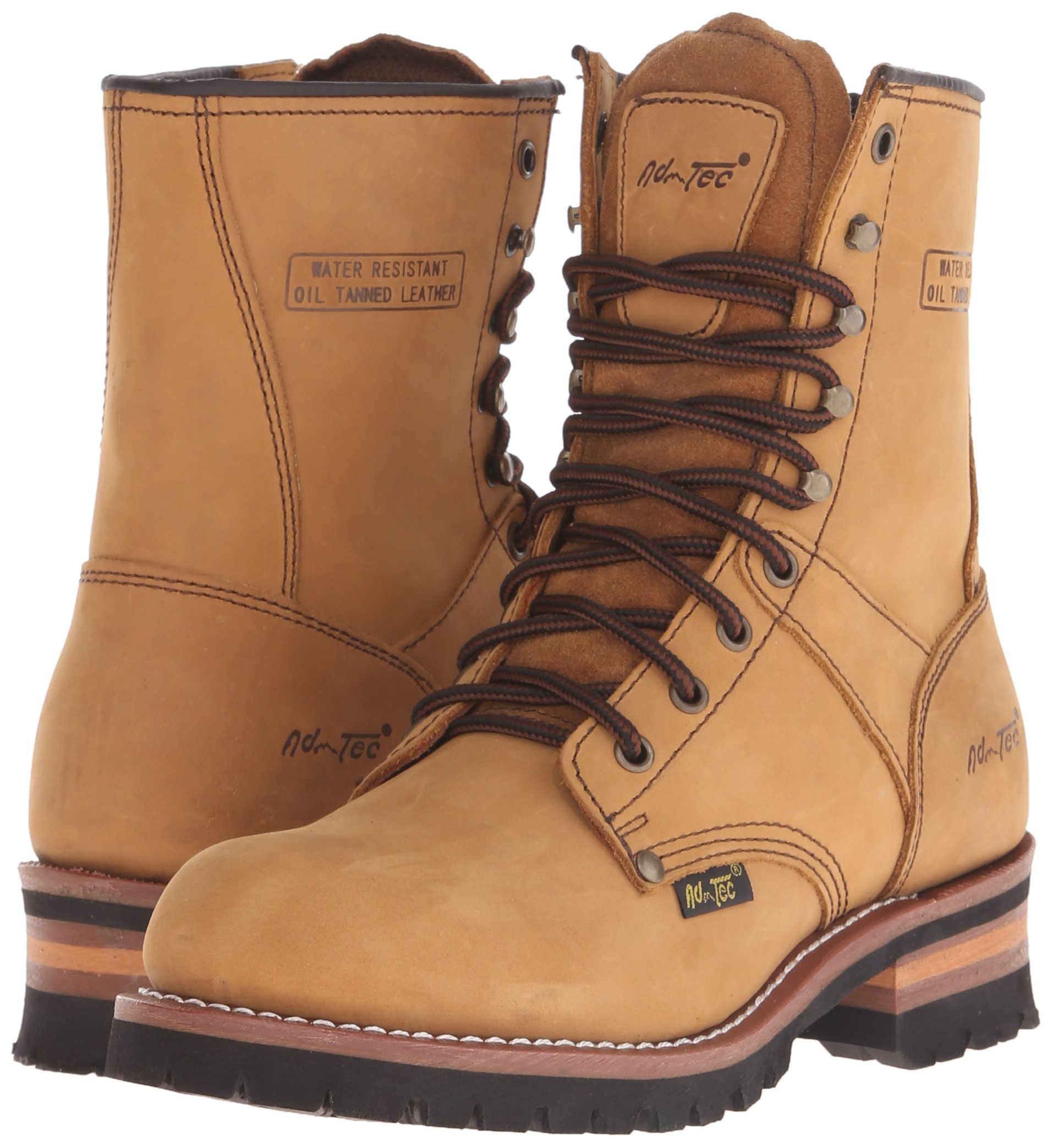 Adtec Men's 9 inch Logger Boot, Brown, 9 W US by Adtec (Image #6)