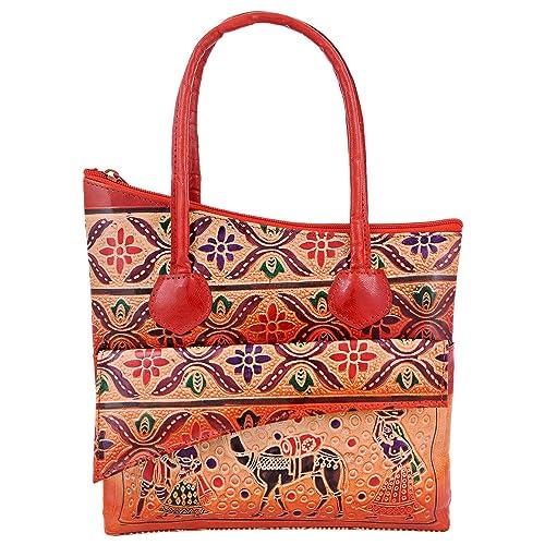 Genuine Leather India Shantiniketan cat three fold Wallet Clutch Bag Women Purse