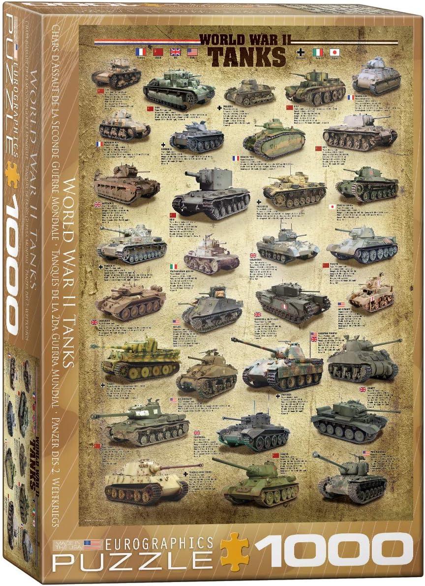 Puzzle World War II Tanks Eurographics