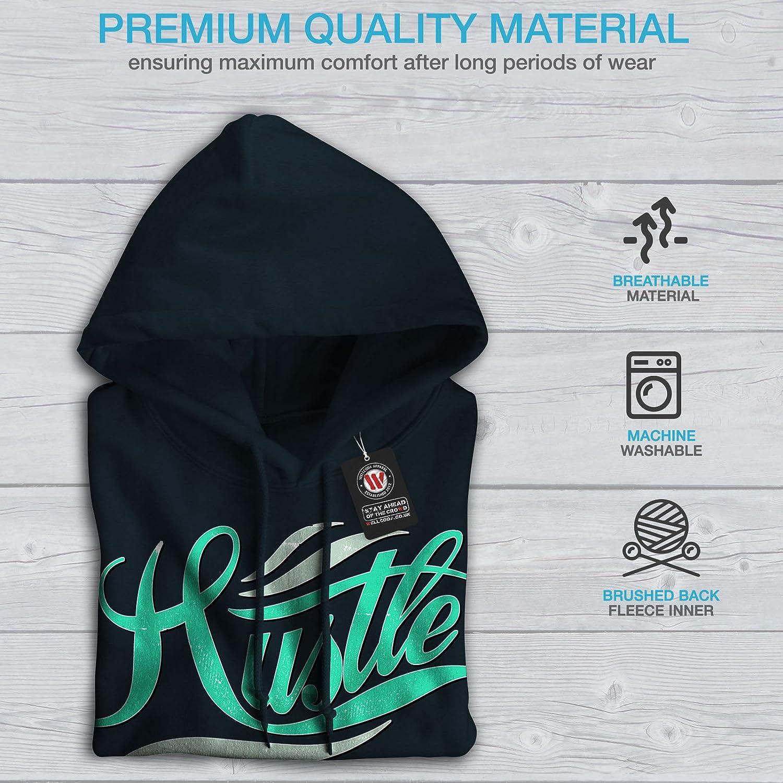 wellcoda Hustle Hard Text Mens Sweatshirt Loyalty Casual Jumper