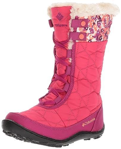 69104f1177ae12 Columbia Girls' Youth Minx MID II Waterproof Omni-Heat Snow Boot, Punch Pink