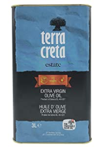 Terra Creta, 100% Koroneiki Variety, Estate Greek Extra Virgin Olive Oil, 3 Ltr (101 Fl.oz) Tin