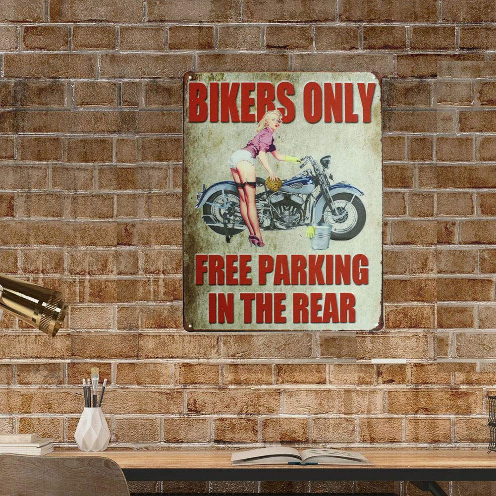 Amazon.com: Sumik Bikers Only Free Parking in the Rear ...