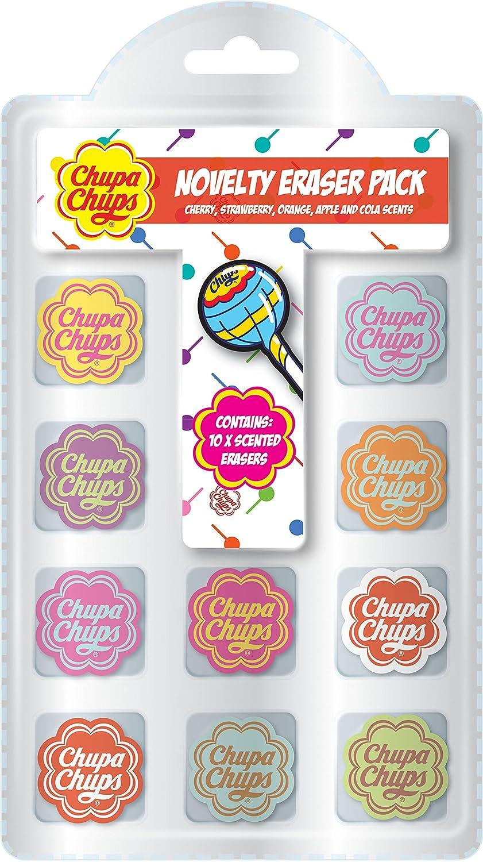 Chupa Chups Novelty Scented Eraser, Orange, Pack of 10 Anker CHNVE