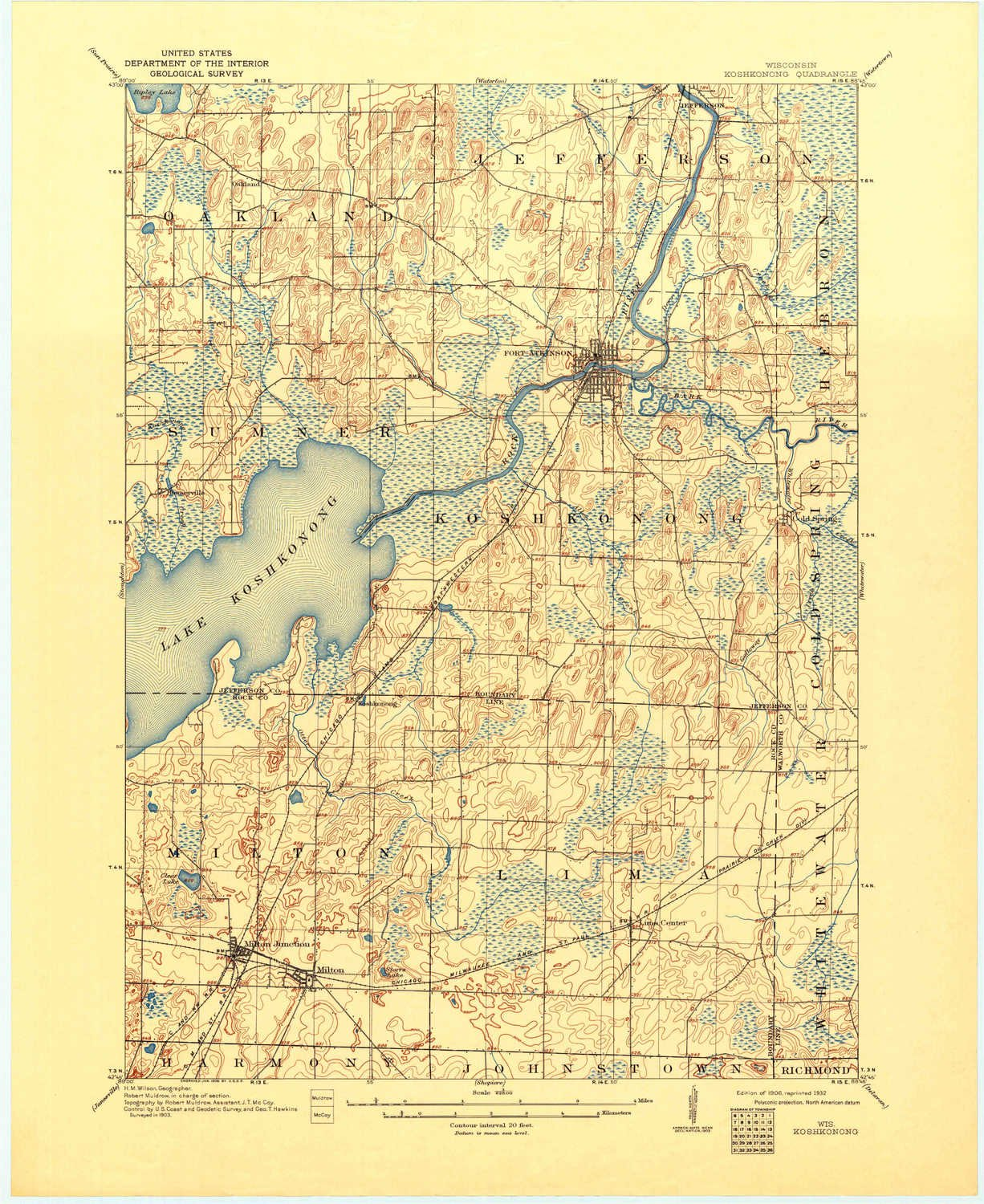 Amazon Com Yellowmaps Koshkonong Wi Topo Map 1 62500 Scale 15 X