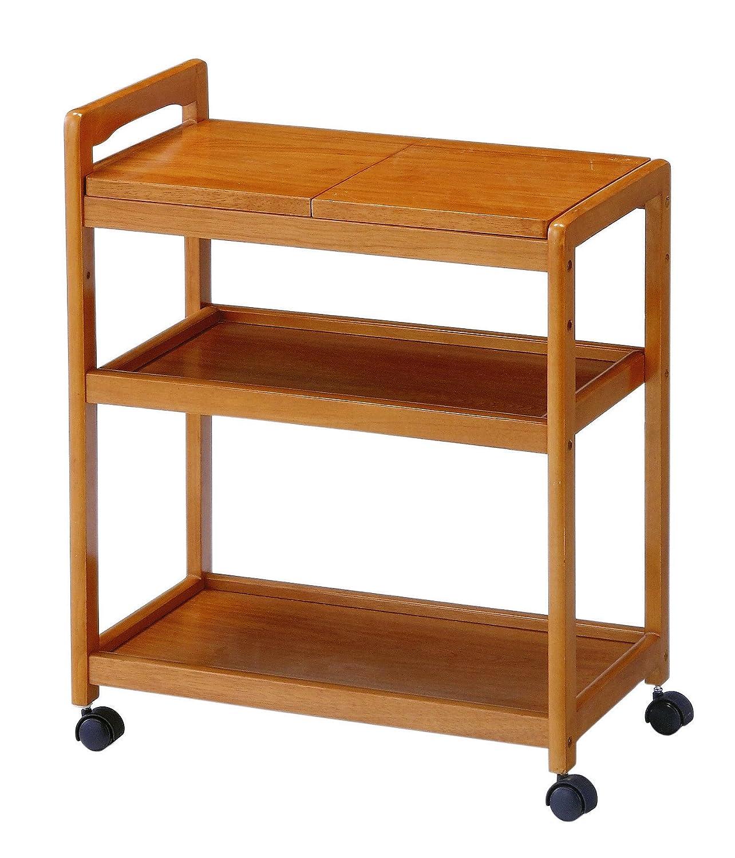 koeki 木製キッチンワゴン キャスター付き ブラウン色 KWB590BR