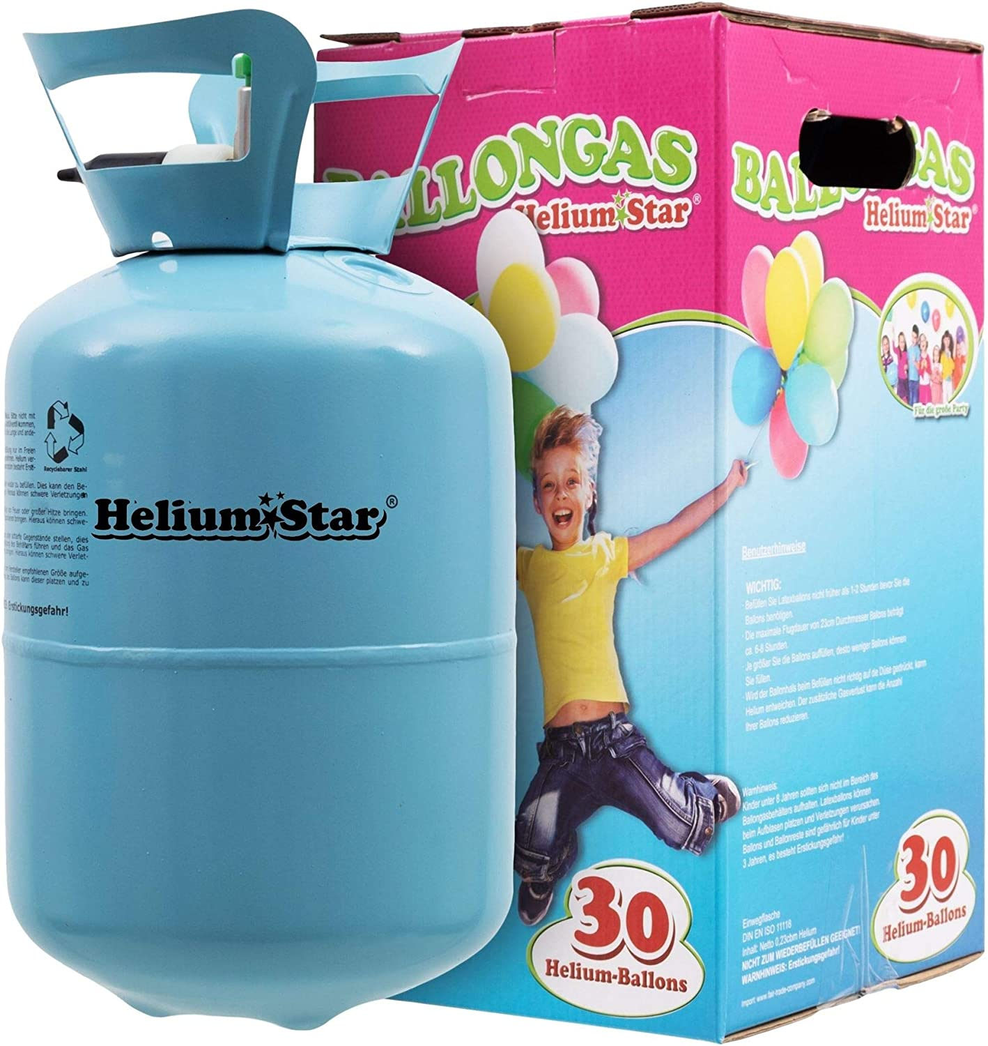 Balloons + Band Helium GAS ballongas Disposable for approximately 30-50 Balloons Accessories