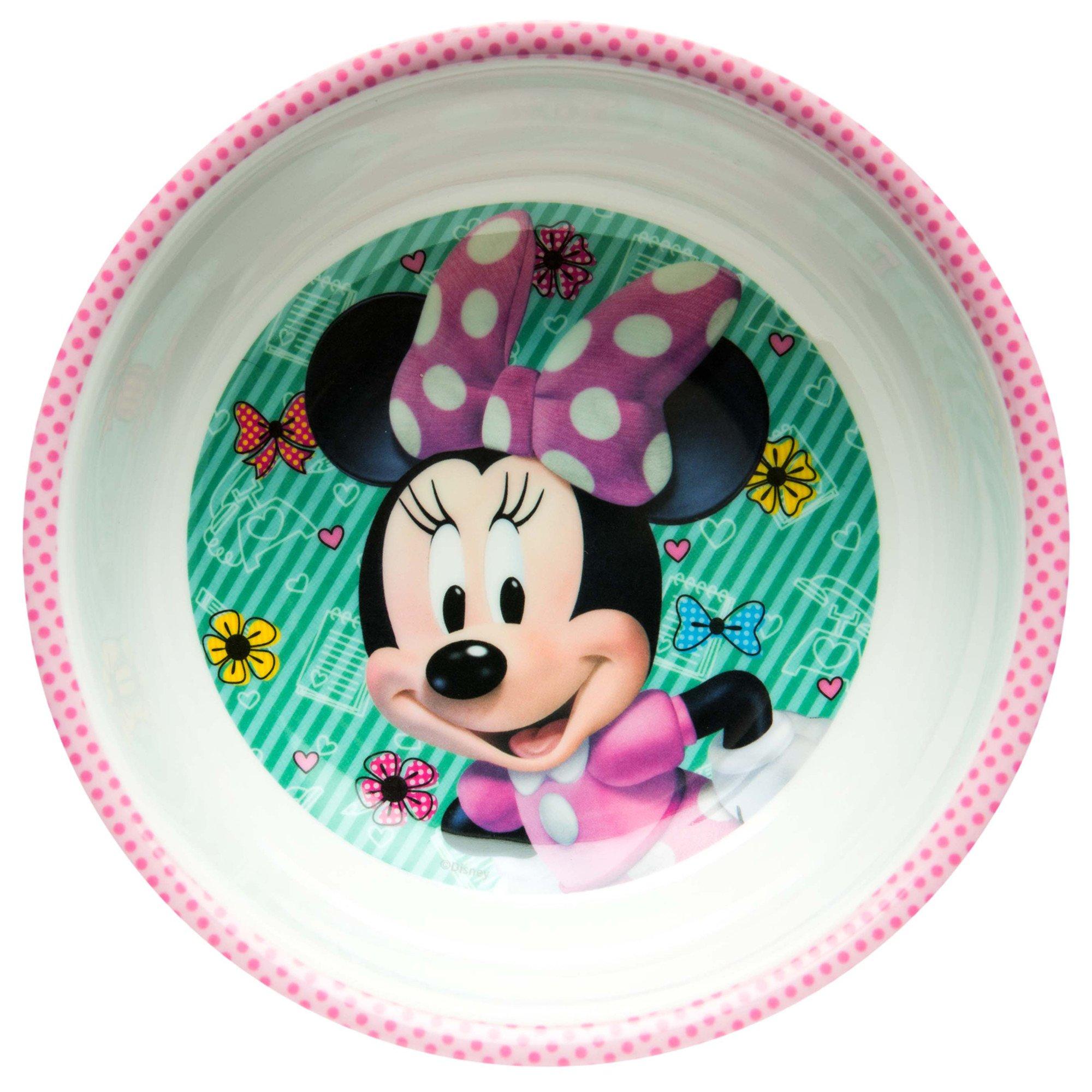 Zak Designs MMND-0361-B Minnie Boutique Mel Bowl W-Rim, Multicolor