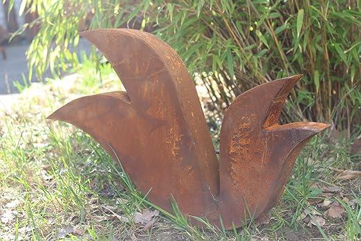 Zen Man para jardín (Acero Inoxidable óxido de escultura de jardín de metal jardín Figure Símbolo de la suerte Jardín Decoración H40 * b43.5 * 5 cm 101770 – 1: Amazon.es: Jardín
