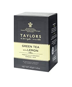 Taylors of Harrogate Green Tea with Lemon, 20 Count (Pack of 6)
