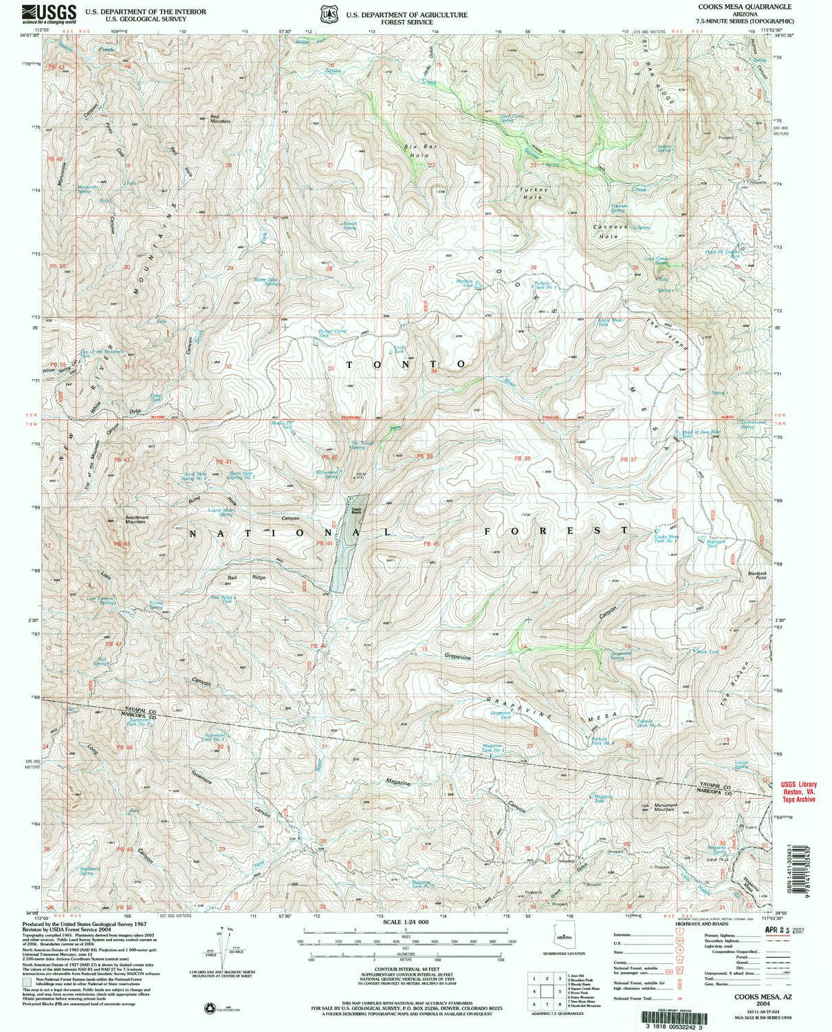 Amazon.com : YellowMaps Cooks Mesa AZ topo map, 1:24000 Scale, 7.5 X ...