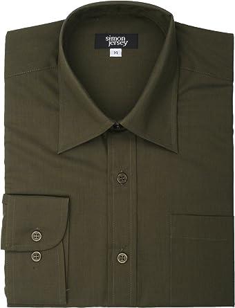 Simon Jersey - Camisa formal - para hombre Verde Verde De ...