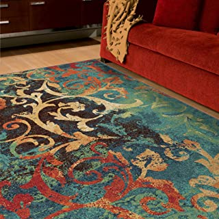 product image for Orian Rugs Contemporary Vibrance Watercolor Scroll Multi 6' X 9'