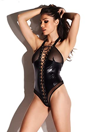 1f9762638 Ann Summers Womens Saffron Wet Look Crotchless Body PU Sexy Lingerie  Underwear L  Amazon.co.uk  Health   Personal Care