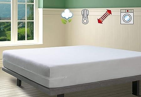 Savel - Funda de colchón elástica de Algodón | 150 x 190/200cm ...