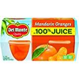 Del Monte Mandarin Orange Fruit Cup Snacks, 4 Ounce Cups