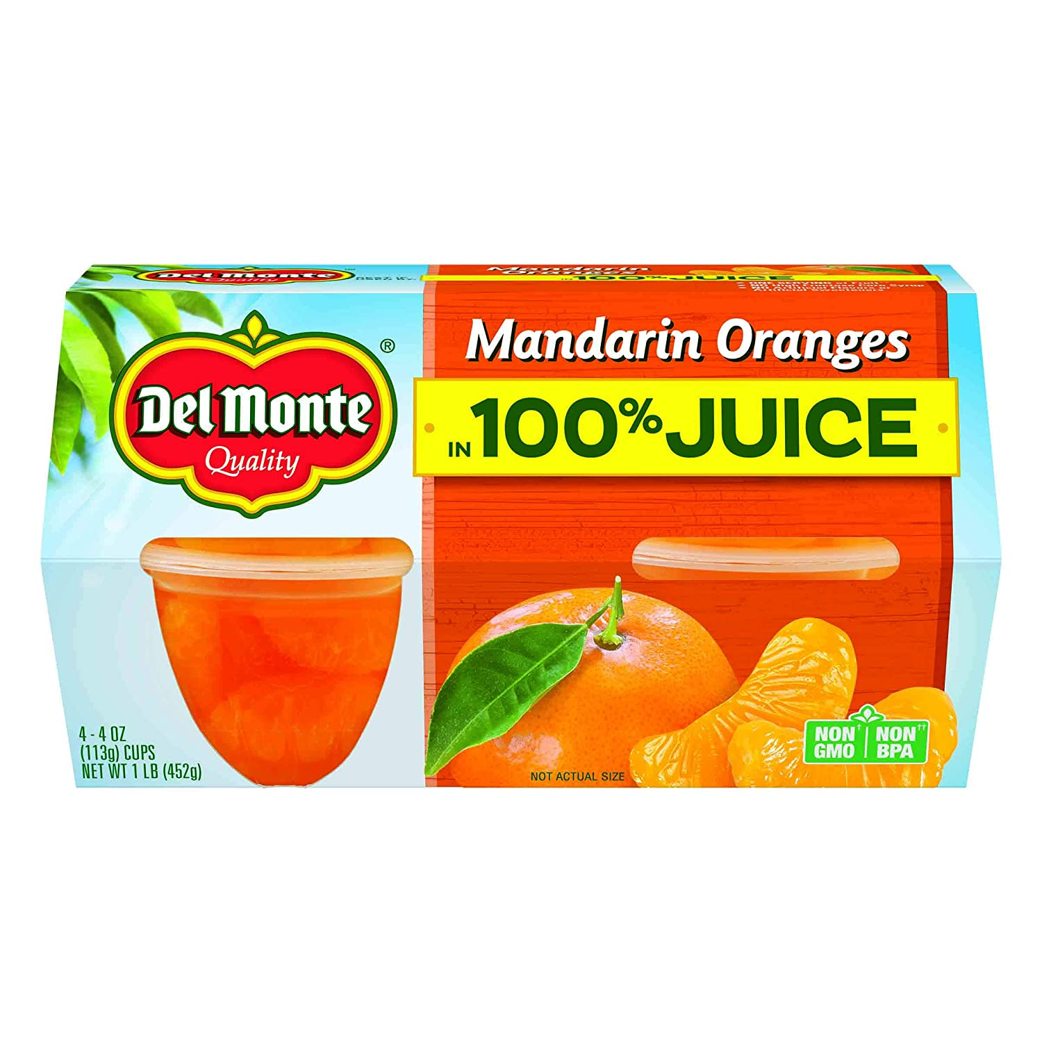 Del Monte Mandarin Orange Fruit Cup, 16 ounce