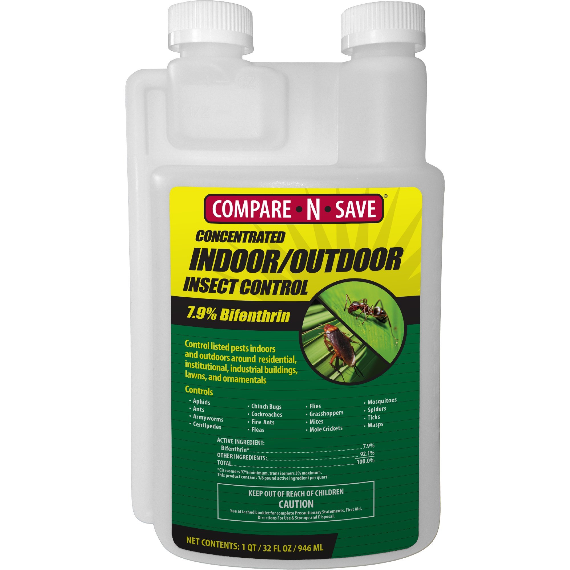 Compare-N-Save Concentrate Indoor and Outdoor Insect Control, 32-Ounce