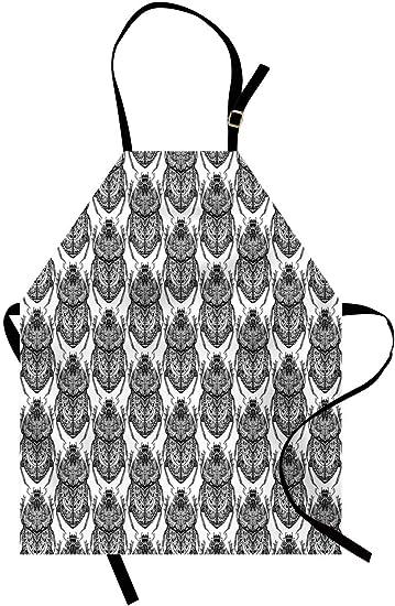 Delantal egipcio, escarabajos estilizados dibujados a mano ...