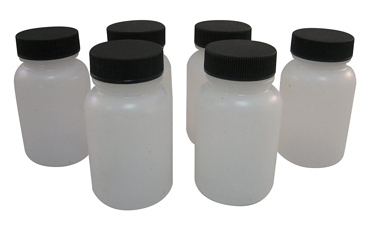 Box of 6 Badger Air-Brush Co 51-0054B 3-Ounce Plastic Jar and Cover