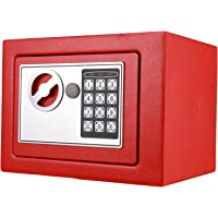 Anmas Home Security Safe Digital Electronic Security Safe Box - 0.5-Cubic Feet (Red)