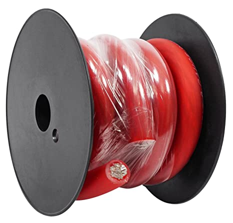 Amazon rockville r0g5red 0 gauge awg 5 foot red car amp rockville r0g5red 0 gauge awg 5 foot red car amp ground wire cable high grade greentooth Choice Image