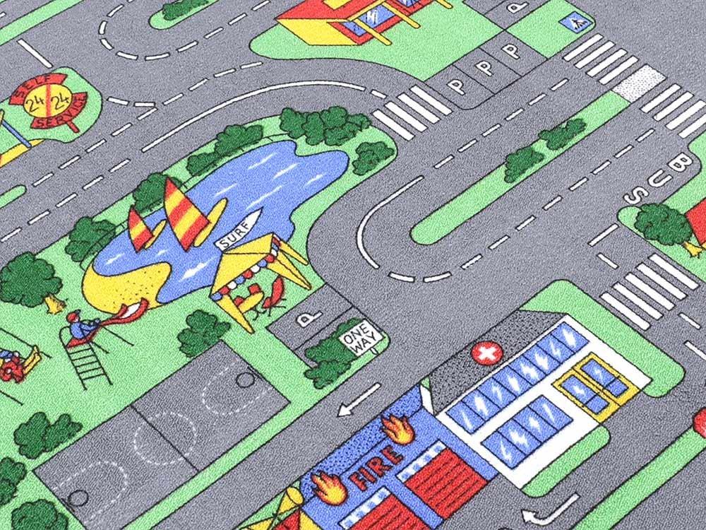 Auto Teppich HEVO® Kinder Strassen Spielteppich | Kinderteppich 145x200 Cm:  Amazon.de: Küche U0026 Haushalt